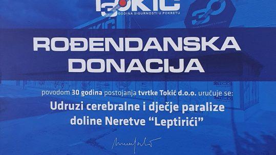 Tokić d.o.o. donira
